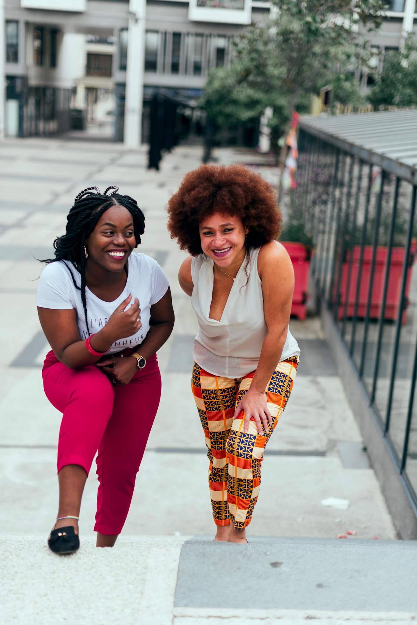 femmes noires sourire